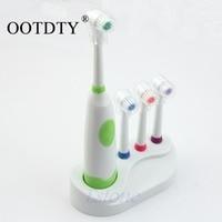 Electric Toothbrush Waterproof Revolving Toothbrush 3 Brush Heads For Kids Hot