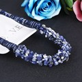 2017 New Arrival Fashion Jewelry Trendy Women 100% Natural Stone Necklaces & Pendants Rope Chain Statement Necklaces Women