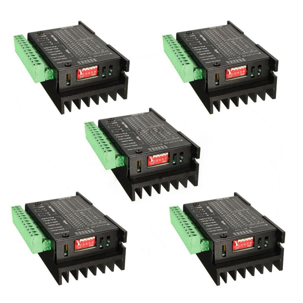 New Style 5PCS CNC Single Axis 4A TB6600 Stepper Motor Drivers Controller cnc single axis 4a tb6600 2 4 phase hybrid stepper motor drivers controller new