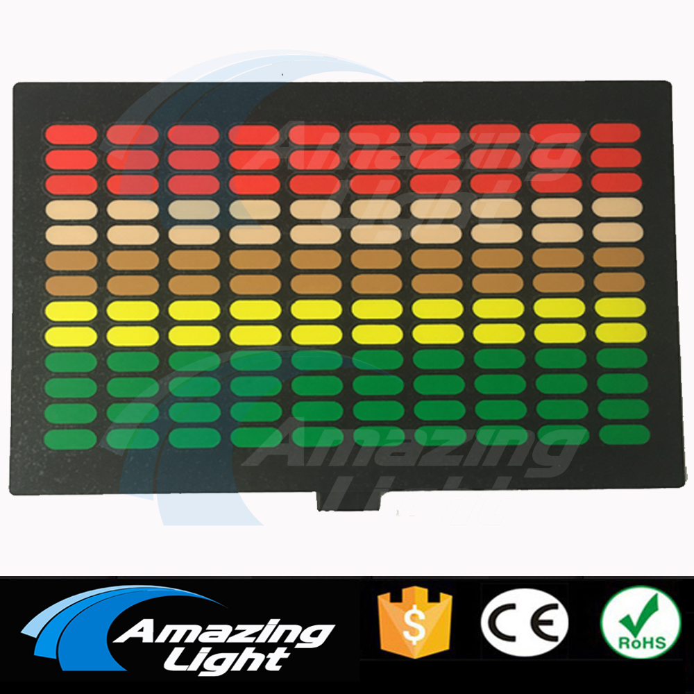 Top Sale Rave Equalizer Flashing Light Up And Down Music Rhythm Led Panel El Panel El Sound Active Panel With Inverter