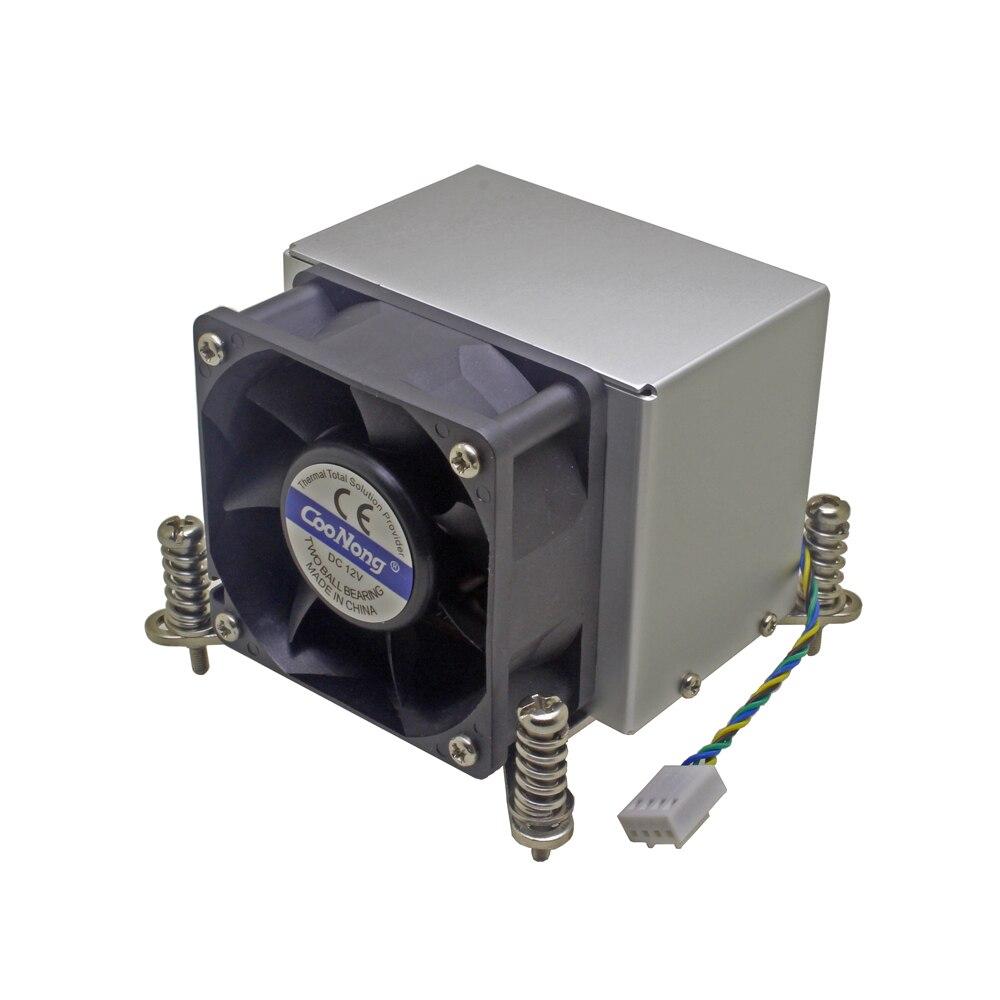 2U serveur refroidisseur de processeur base en cuivre + aluminium aileron radiateur ventilateur de refroidissement pour Intel 1150 1151 1155 1156 i3 i5 i7 refroidissement actif