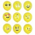 100pcs QQ Expression Ballons Emoji Balloon Happy Birthday Emoticons Latex Ballons Wedding Decoration Ballons