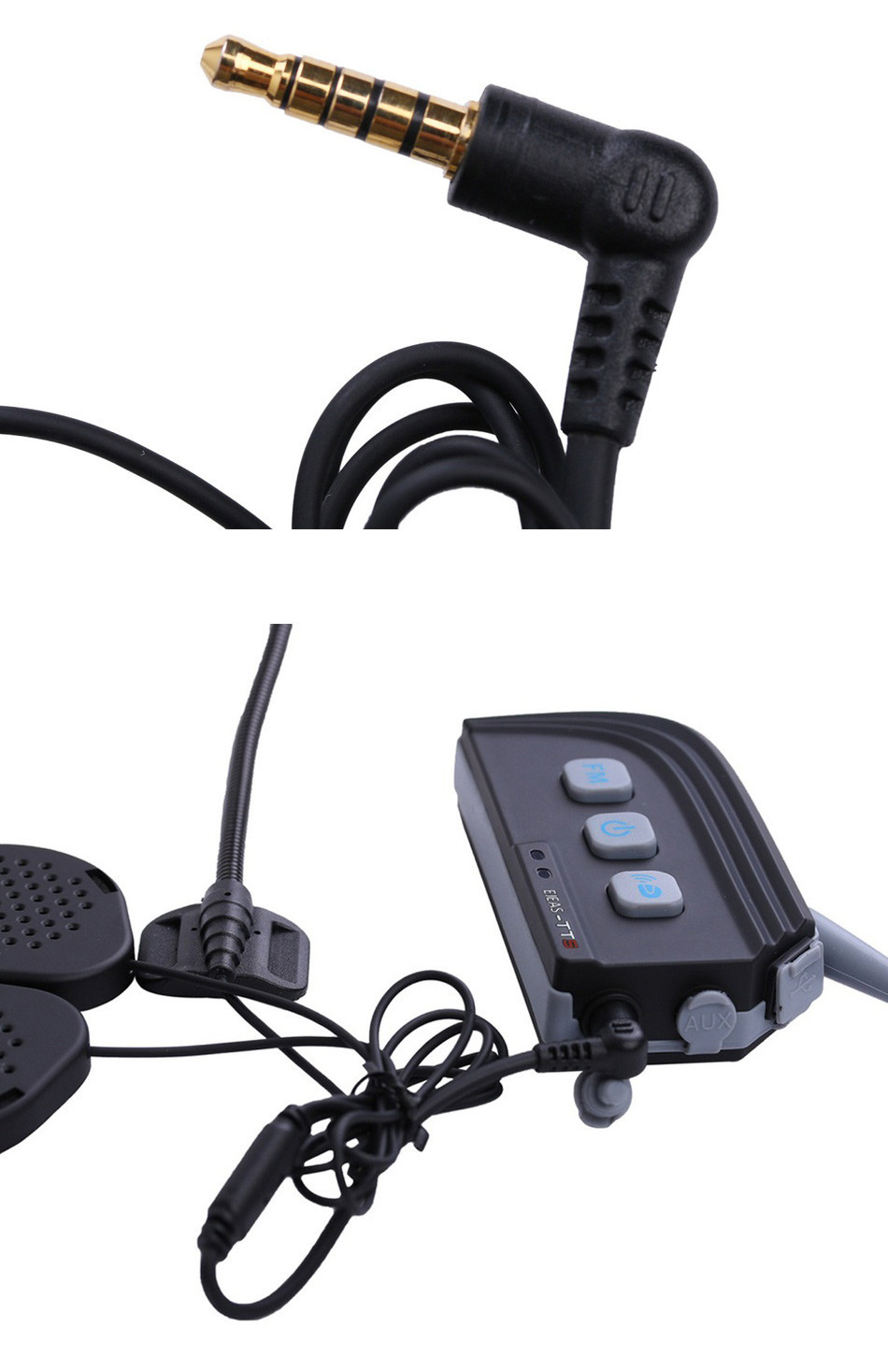 2PCS Motorcycle Dual Bluetooth Helmet Intercom BT Headset Wireless Interphone For 4 Riders 1500M Real Time Moto Communication03