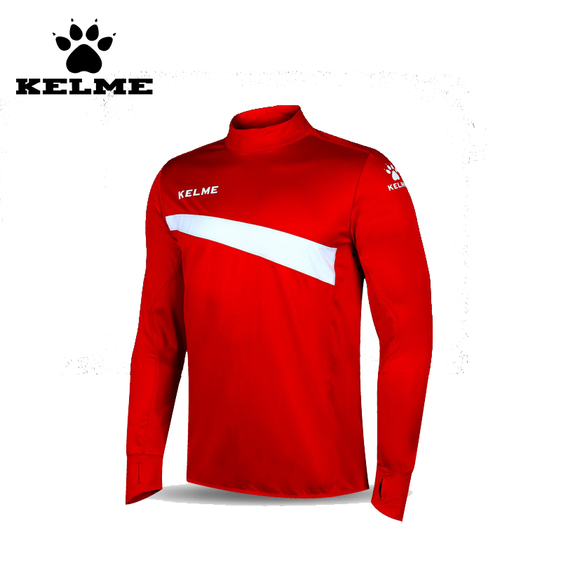 Kelme professionnel football formation maillots Polyester personnalisé Camisa Social Masculina col montant à manches longues Maillot 63