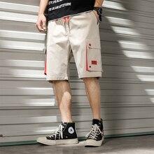 men shorts sweat hip hop streetwear summer military mens bermuda shorts M-XXXL 2019 with pocket cargo short shorts for men drawstring side pocket bermuda shorts