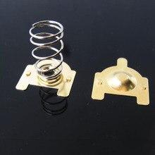 DIY 18650 Батарейная пружина/одиночная Батарейная коробка пружина/положительные/отрицательные контакты 10 пар