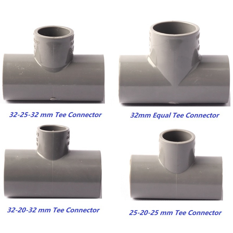 20 25 32 mm 4 types pvc equal reducing tee connectors garden water pipe connector thicken. Black Bedroom Furniture Sets. Home Design Ideas
