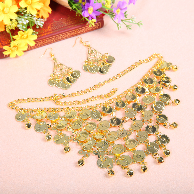 Belly Dance Accessories Necklace With Earrings For Women Belly Dancing Props New Cheap 2 Color