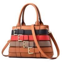 Women's Brand Handbag 2019 Fashion Button Decoration Shoulder Bag New Ladies Color Matching Party Wallet Ladies Messenger Bag