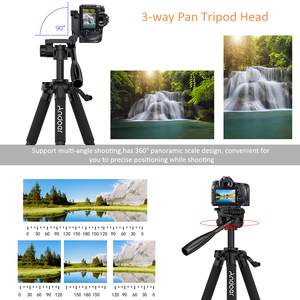 Image 2 - Andoer TTT 663N Professional Portable Travel Aluminum Camera Tripod for SLR DSLR Digital Camera Tripod with Phone Clamp