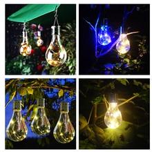 LED Solar Lamp Camping Tent Solar Light Lamp With Light Sensor Solar Powered Hanging Lanterns For Outdoor Garden Fishing Lights