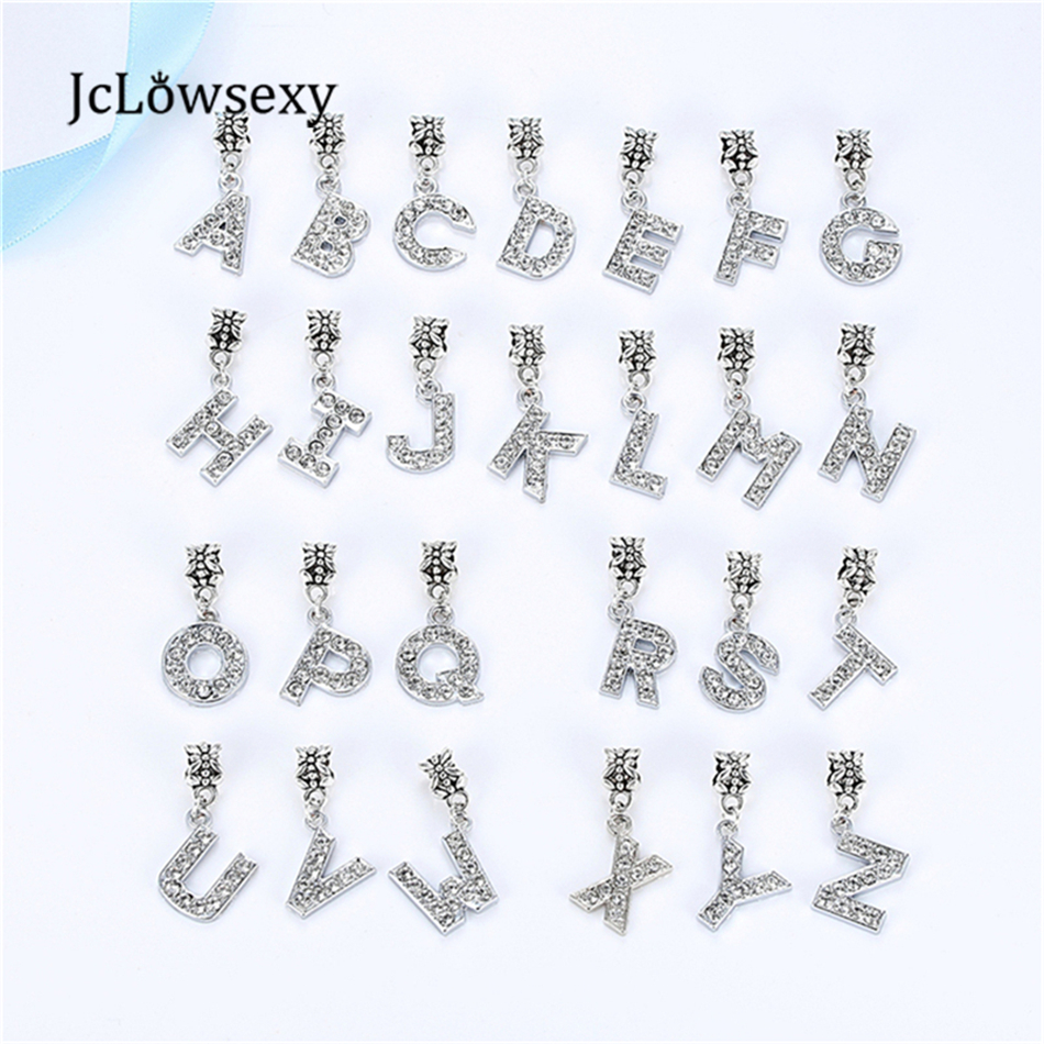 free shipping a r alloy bead charm european letter of the alphabet silver plated bead fit pandora bracelets bangles jewelry b8