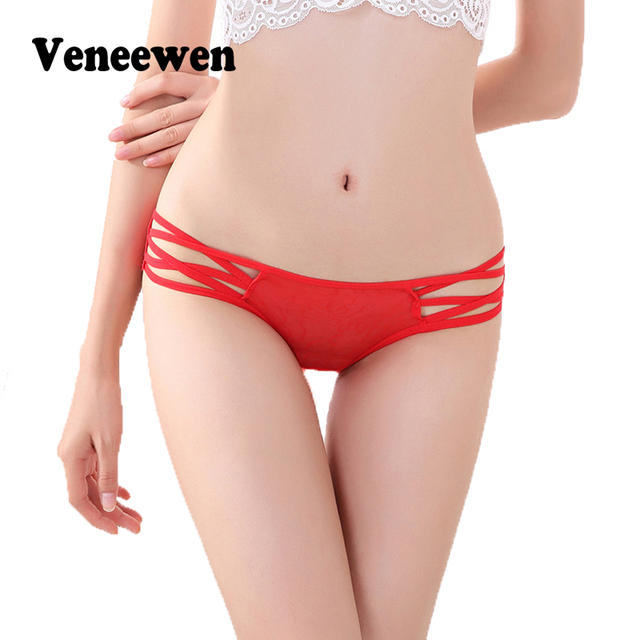 Sexy Bandage G String Women Lace Women's Panties Full Transparent  Low Waist Thongs Underwear Briefs