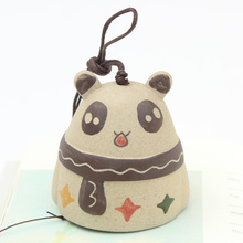 Creative Ceramic Handmade painted Panda Wind Bell Japanese Ornaments