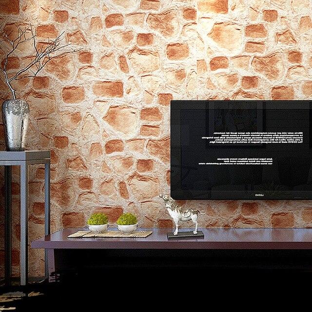 r tro imitation pierre brique 3d en relief pvc vinyle. Black Bedroom Furniture Sets. Home Design Ideas
