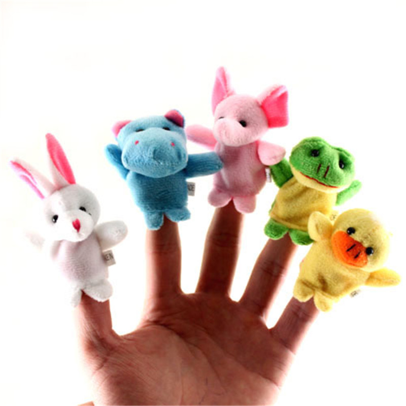 Baby Plush Toys Lovely Cartoon Biological Animal Finger Puppet Plush Toys Children Favor Dolls Hot Sale