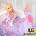 Captores cartão de sakura sakura kinomoto 20th anniversary lilases cosplay costume party dress + flor + arco + mantilha + pescoço + azáfama
