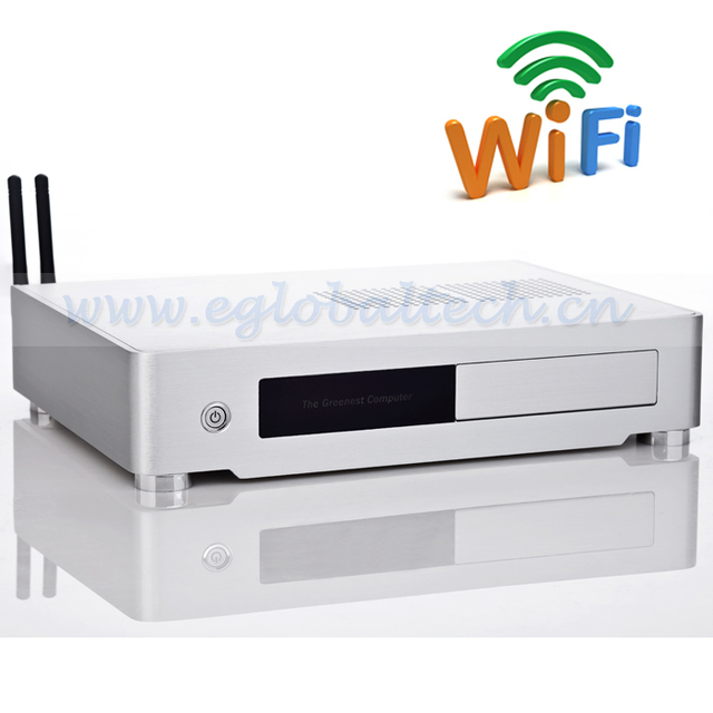 Fanless Mini Industrial PC add Wireless Win XPE/Win7/Linux Embedded Onboard Celeron G1820 2G DDR3 32G SSD HDMI Thin Client PC
