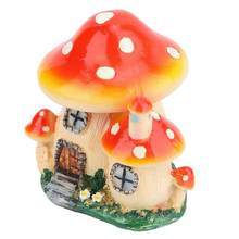 Home Decoration Accessories Miniature Figurines Miniature Plant Pots Fairy Dollhouse Resin Mushroom House Garden Ornament(China)