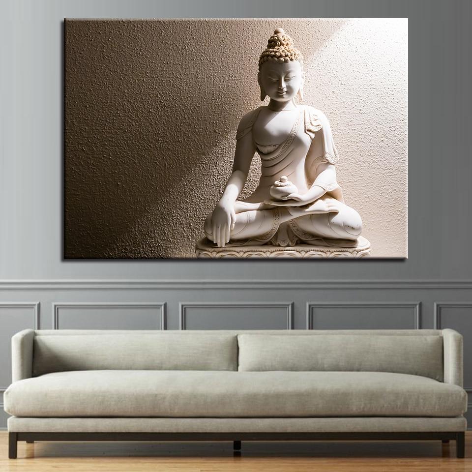 1 pcs white marble buddha wall art home decor poster picture canvas painting quadri moderni su - Decor art quadri bari ...