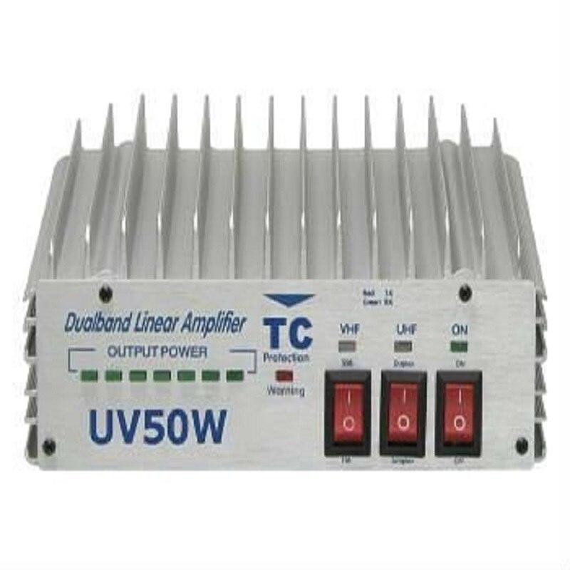 HYS 50W VHF UHF Power HF Amplifier Portable For Ham Radio Two Way Radio HF Transceiver Walkie Talkie