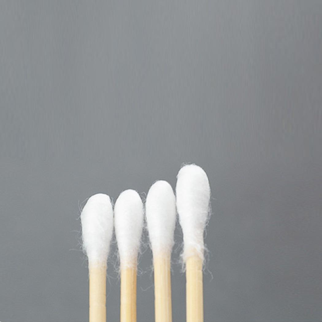 Double Head Wood Cotton Swab Buds Makeup Sticks White Nose Ears Cleaning Tools