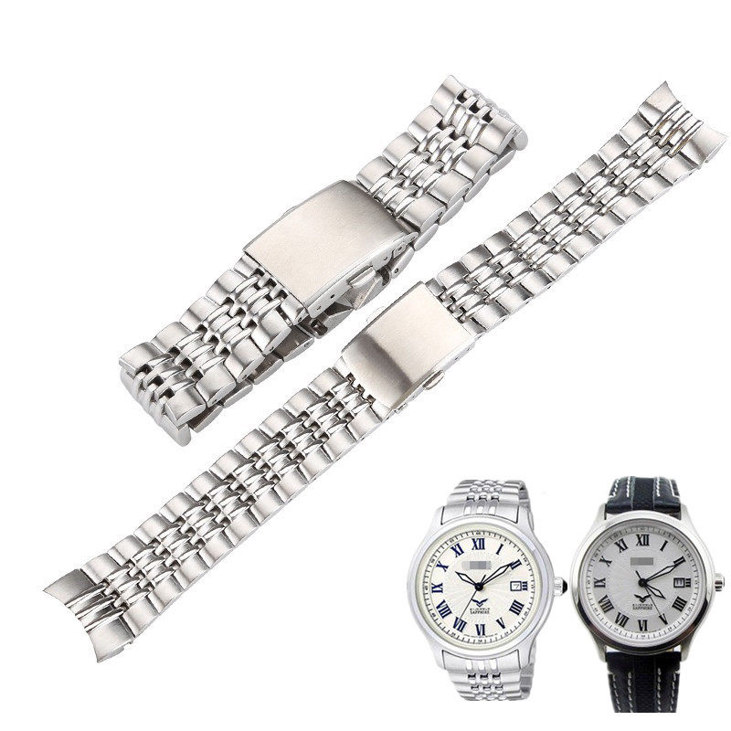 Shi Shi applies CITIZEN NJ2167-01A/NJ2166-04A steel band stainless steel watch strap for men 21mm цена
