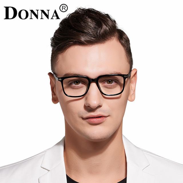 Donna TR90 Marco Grande Hombre eyeglases Gafas Ópticas Marcos para Hombres Mujeres Plaza de Lectura Lente Transparente