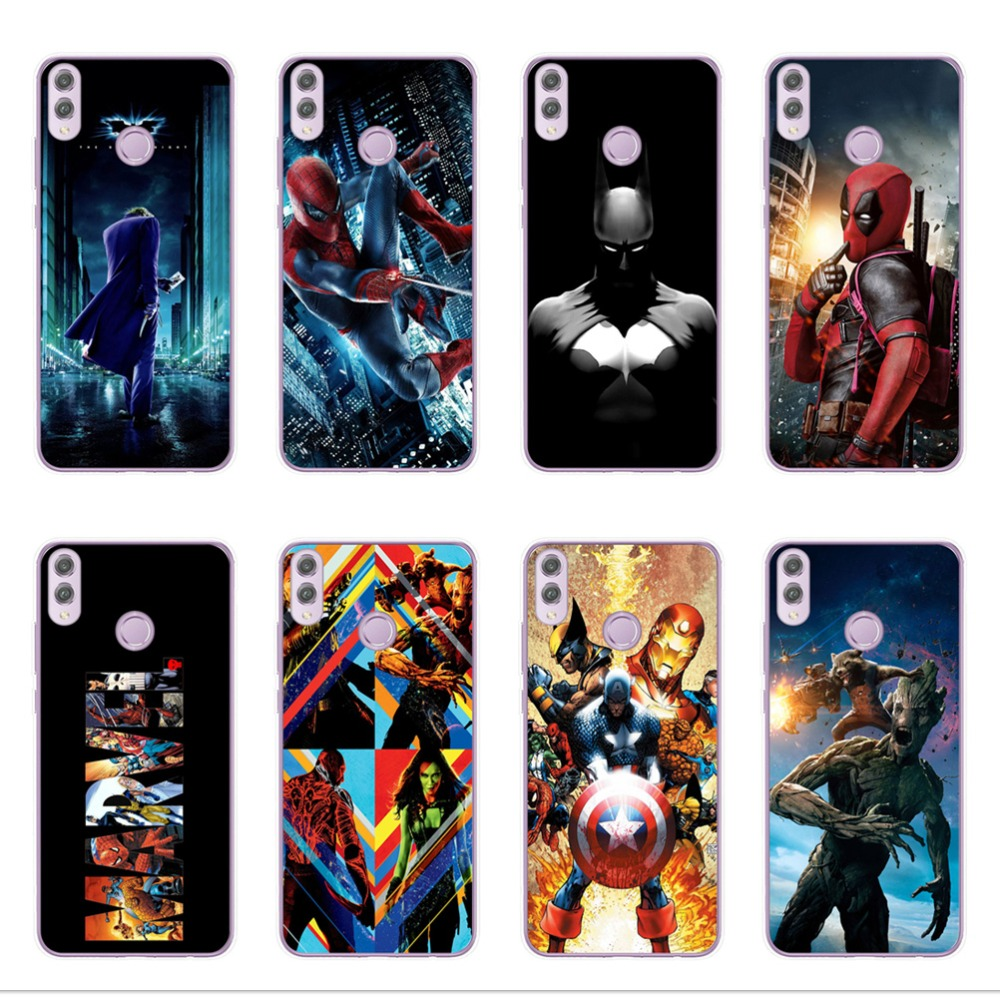 Marvel Avengers Heroes Case For Huawei Mate 10 20 Lite Pro Honor 9 10 Lite 6X 7X 8X 8C Soft TPU Cover Spiderman Case Coque Funda image