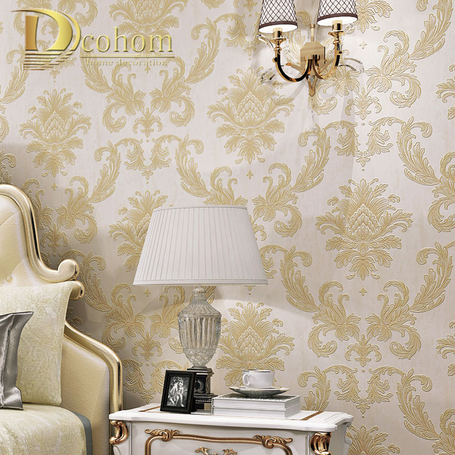 bruin damast behang-koop goedkope bruin damast behang loten van, Deco ideeën