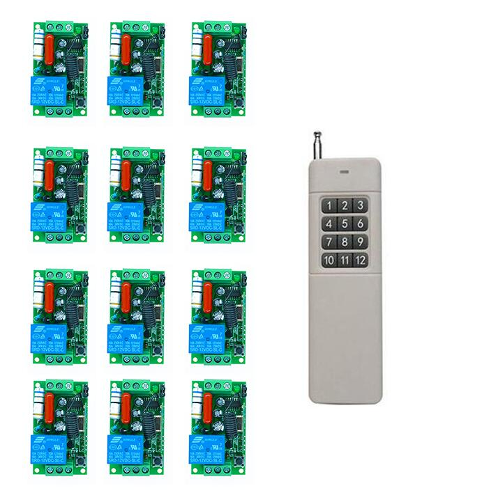 3000M Long Range AC220V 1CH RF Wireless Remote Control Relay Switch control light /lamp/ window/Garage Doors shutters 433.92Mhz