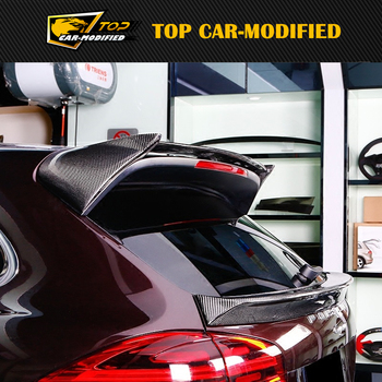 Free shipping TOP CAR-MODIFIED Carbon Fiber Roof spoiler for Porsche Macan body kits 2014 up