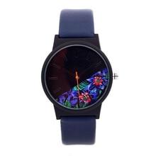 Кварцевые наручные часы Reloj Mujer, модные повседневные женские часы разных цветов, роскошные часы с кожаным браслетом