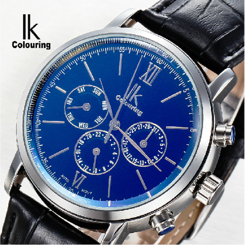 ФОТО Ik multifunctional symphony for mens watch inveted double male fully-automatic mechanical watch mens watch pair of watches