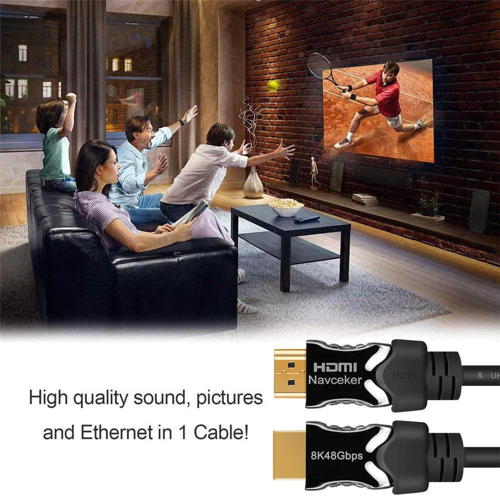 2019 8 HDMI 2.1 ケーブル 48 5gbps 4K @ 120 60hz の 2.1 HDMI ケーブルのオス HDMI2.1 ケーブルダイナミック HDR UHD HDMI hdmi 2.1 ケーブル DVD テレビ