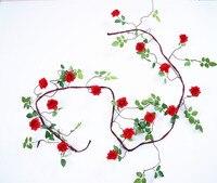 3 Metros de Lujo Rosa Artificial Vid Hiedra Ratán Inicio decoración de La Boda de Seda + Plástico Colgando Del Partido Guirnalda Guirnalda de flores Artificiales