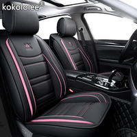 kokololee leather car seat cover For seat ateca ibiza nissan note hyundai getz ford mondeo mk4 mazda 6 gh volvo v40 Seat Covers