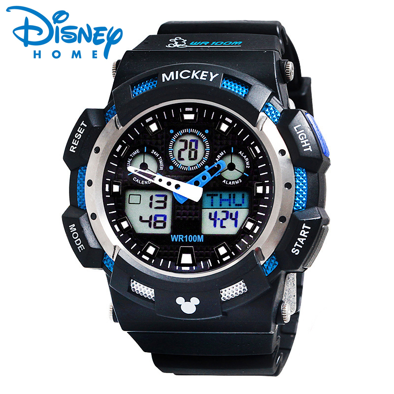 Disney Sport Watches For Men Waterproof Digital Watches Mickey Mouse Silicon Military Sport Watch Children For Boys diray dr 306g children digital watch