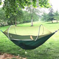 Fully automatic mosquito net hammock outdoor adult single double parachute hammock anti mosquito indoor and outdoor swing chair