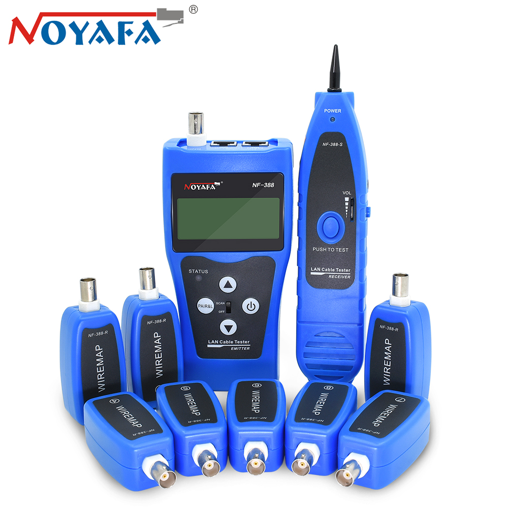 Original Blue Noyafa NF-388 RJ45 UTP STP Cat5 Telephone Wire Tracker Line Finder Diagnose Tone Tool Kit LAN Network Cable Tester