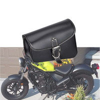 Motorcycle Bag PU Leather Saddlebag Saddle Swingarm Bag Left Right Side Tool Bags For Sportster 1200 For Honda CMX500 Waterproof