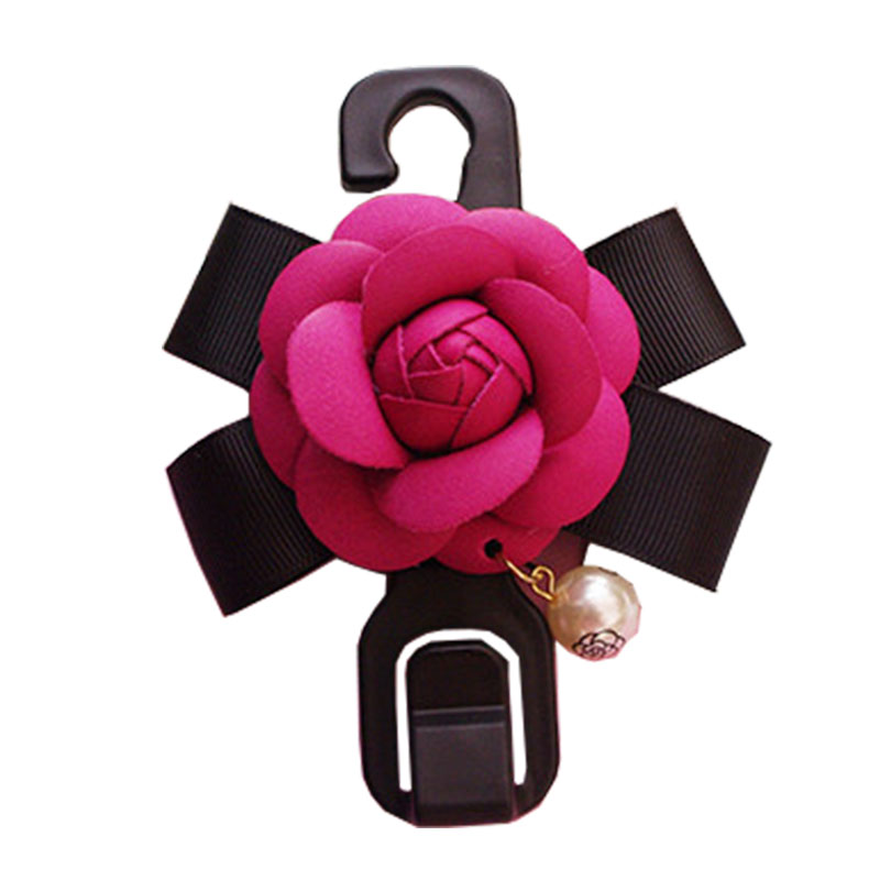 Camellia deraction ornament car chair hanging tools collection for car ornament multifunctional garbage rubbish trash hooks