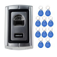 125KHz RFID Metal Case Fingerprint Door Lock Access Control Controller Fingerprint RFID Card Function