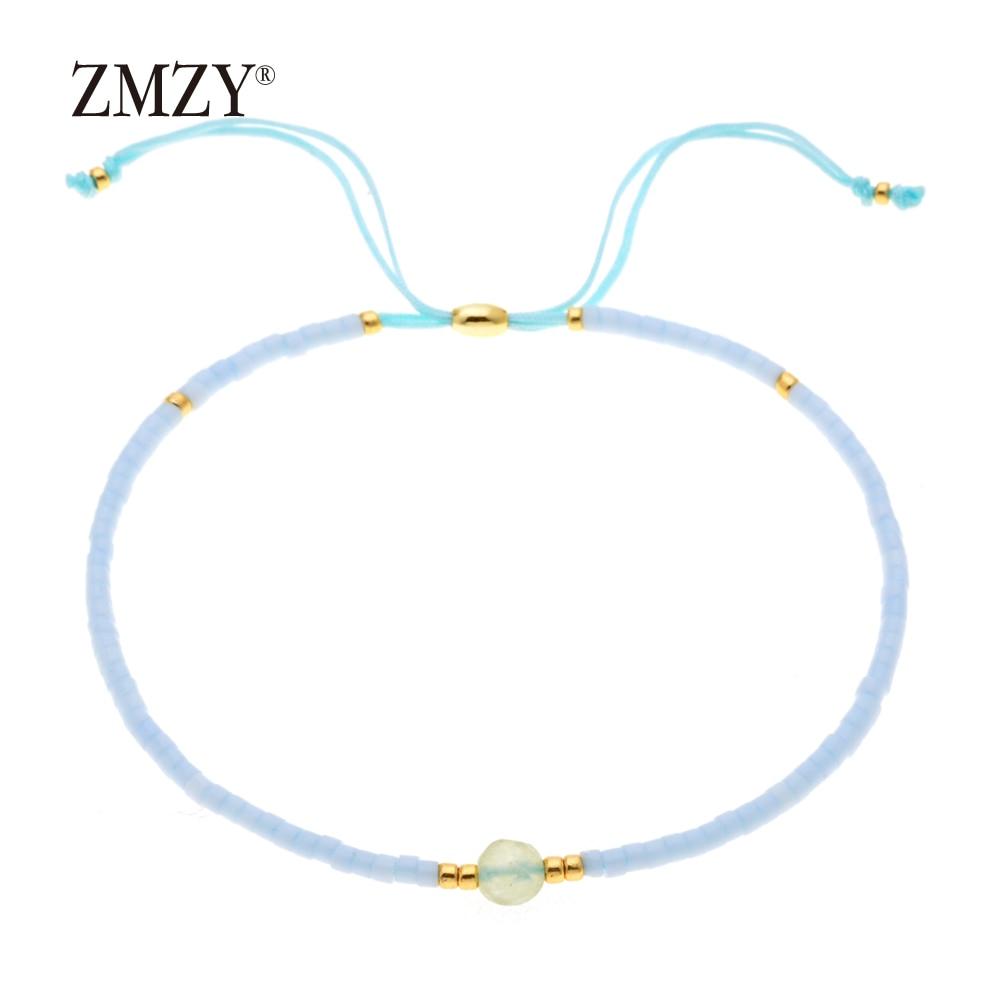 ZMZY Miyuki Delica, бисер, женские браслеты, ювелирные изделия дружбы, модные, сделай сам, Bijoux Femme, простые браслеты, Прямая поставка - Окраска металла: QSSL003-10