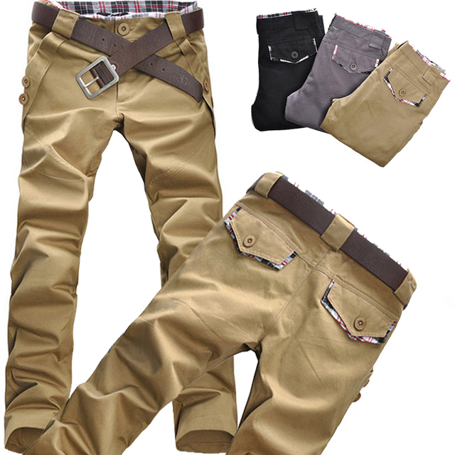 Men's clothing fashion straight canister man's sports pants sport suit men sports clothing casual pants multi pockets D058