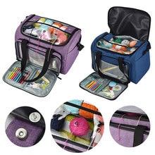"""Вязание иглы швейный набор для хранения """"Сделай своими руками"""", сумка вязальные крючки нить и пряжа для хранения сумка органайзер DIY держатель шерсть для вязания крючком, крючки"""