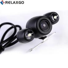 Relaxgo обновление HD 720 P заднего вида Камера для Видеорегистраторы для автомобилей авто назад Камера парковка Функция перевернутое изображение 120 градусов Широкий формат