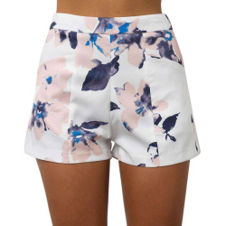 Fashion charming floral print women shorts summer high waist casual pockets zipper back ladies beach mini.jpg 250x250