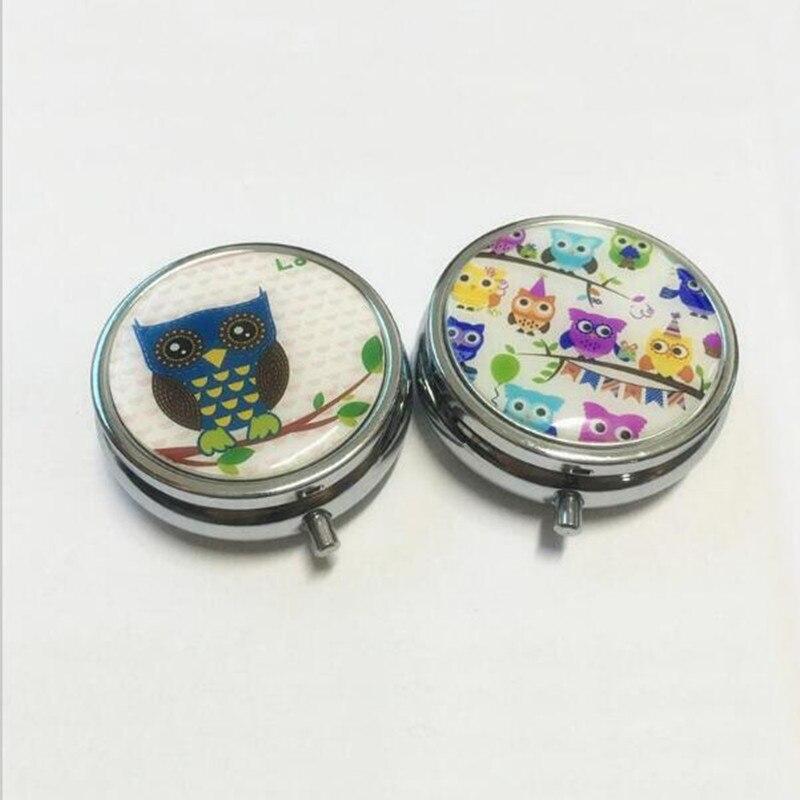 3pcs Customize logo tower owl Fancy Folding pill case Vitamin drug