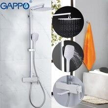 GAPPO bathtub faucet chrome massage shower set bathroom rainfall mixer shower wall mounted torneira do anheiro faucet bathtub стоимость